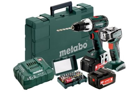 Metabo akumulatorski vrtalni vijačnik BS 18 LT, set (602102560)