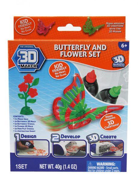 3D Magic Tématická sada - Motýli a květiny