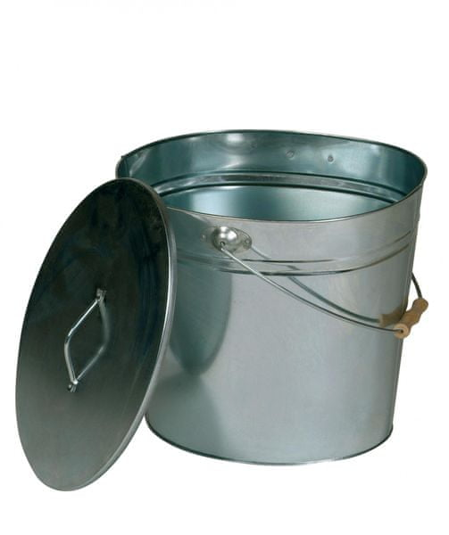 Lienbacher Oválná nádoba na popel s víkem 24l