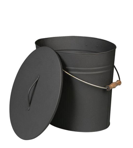 Lienbacher Oválná nádoba na popel s víkem 15l
