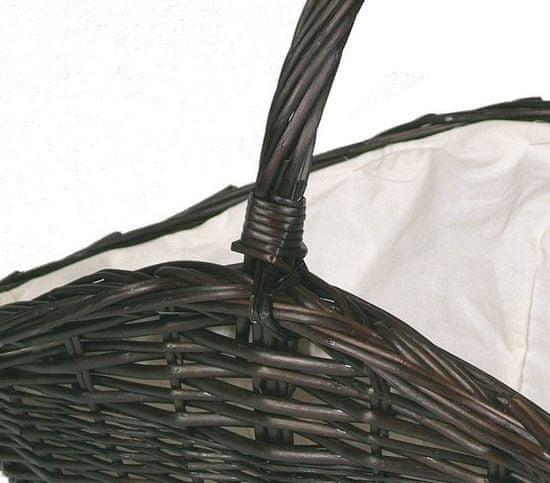 Lienbacher Koš na dřevo proutěný, tmavý (21.02.603.DK)