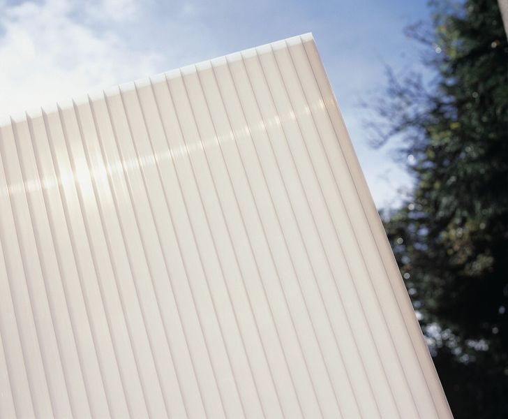 LanitPlast Polykarbonát komůrkový 10 mm opál - 4 stěny - 1,7 kg/m2 2,10x7 m
