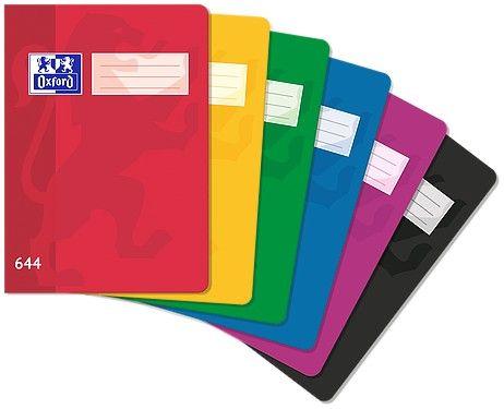 Sešit bezdřevý Oxford 644 - A6 linkovaný, 40 listů, mix barev