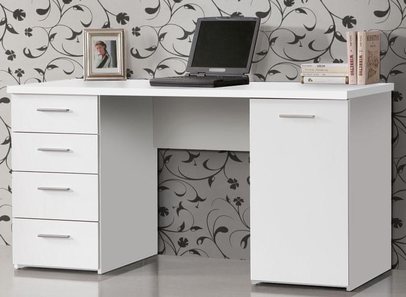 NET106, psací stůl MT926, bílý uni mat