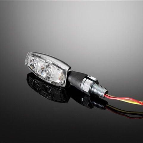 Highway-Hawk moto blinkry MINI s LED, E-mark, chrom (2ks)