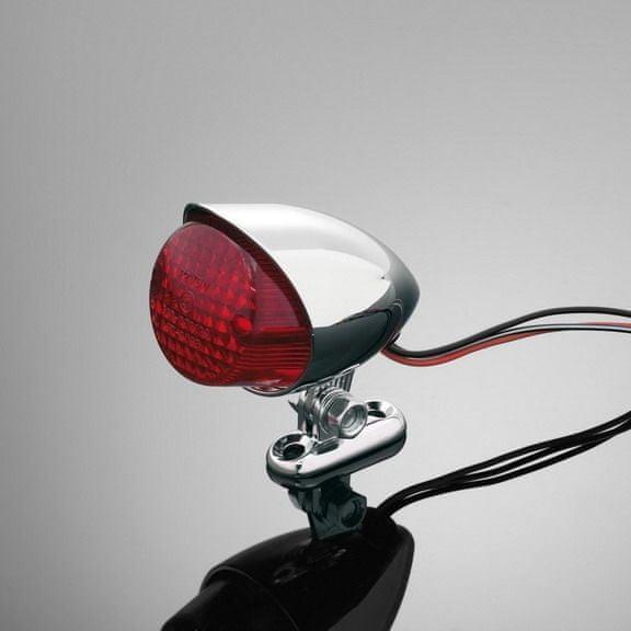 Highway-Hawk koncové motocyklové světlo HAWK, d=55mm, E-mark, chrom (1ks)