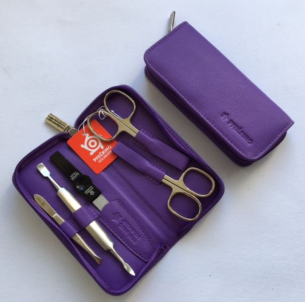 DuKaS Luxusní fialová manikúrová sada Pfeilring