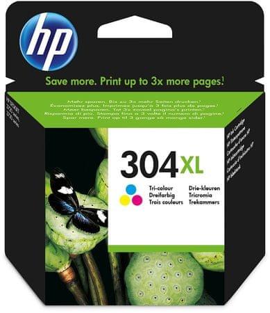 HP kartuša 304XL, barvna, 300 strani (YN9K07AE)