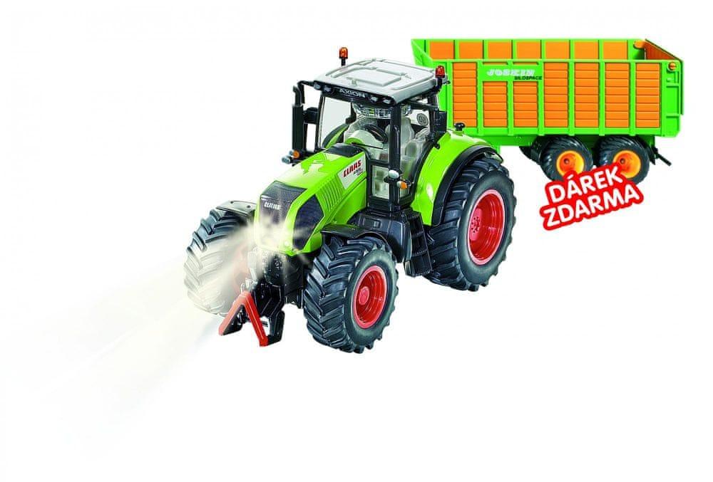 SIKU Control - limitovaná edice traktor Claas Axion + silážní vůz Joskin 1:32