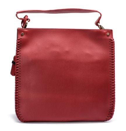 Nalí ženska ročna torbica rdeča