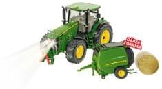 SIKU Control - Traktor John Deere RC z prasą, skala 1:32