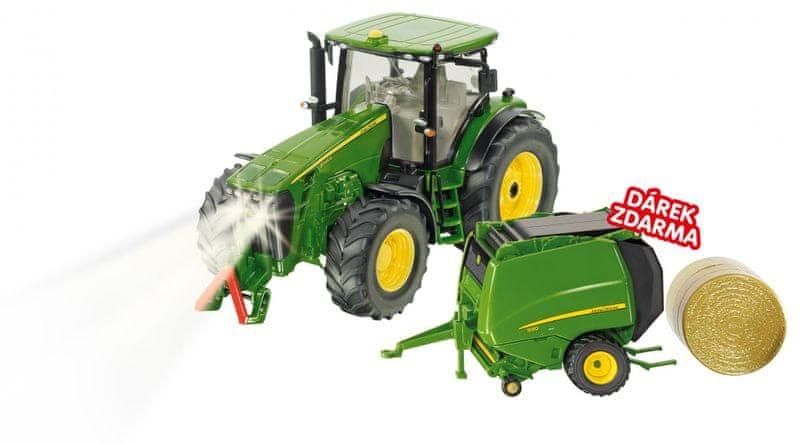 SIKU Control - limitovaná edice traktor John Deere + balíkovačka John Deere 1:32