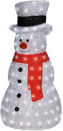 Solight snehuliak vonkajší 160LED, studená biela, výška 75 cm