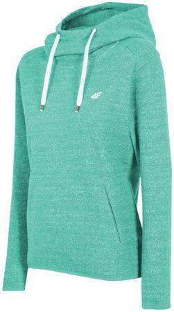 4F Damska bluza sportowa H4Z17 BLD002 turkus jasny XL
