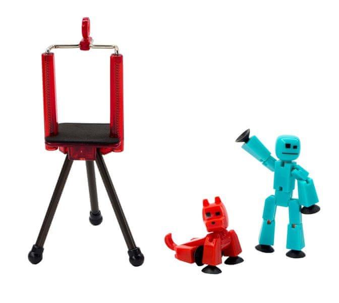 EP Line StikBot sada - modrá figurka + červený pes