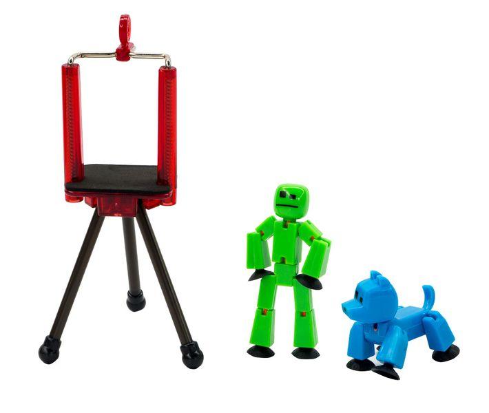 EP Line StikBot sada - zelená figurka + modrý pes