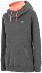 4F Damska bluza sportowa H4Z17 BLD004 ciemny szary melanż
