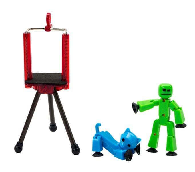 EP Line StikBot sada - zelená figurka + modrá kočka