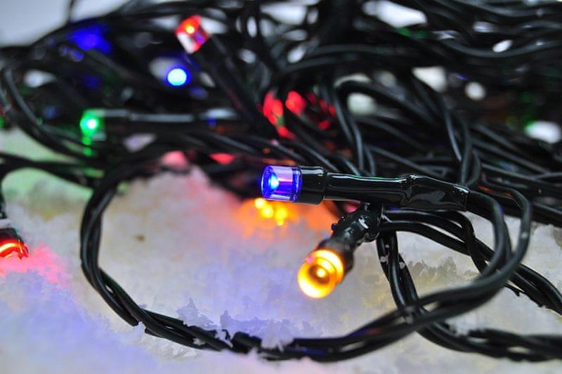 Solight venkovní vánoční řetěz 100 LED 10 m, vícebarevný