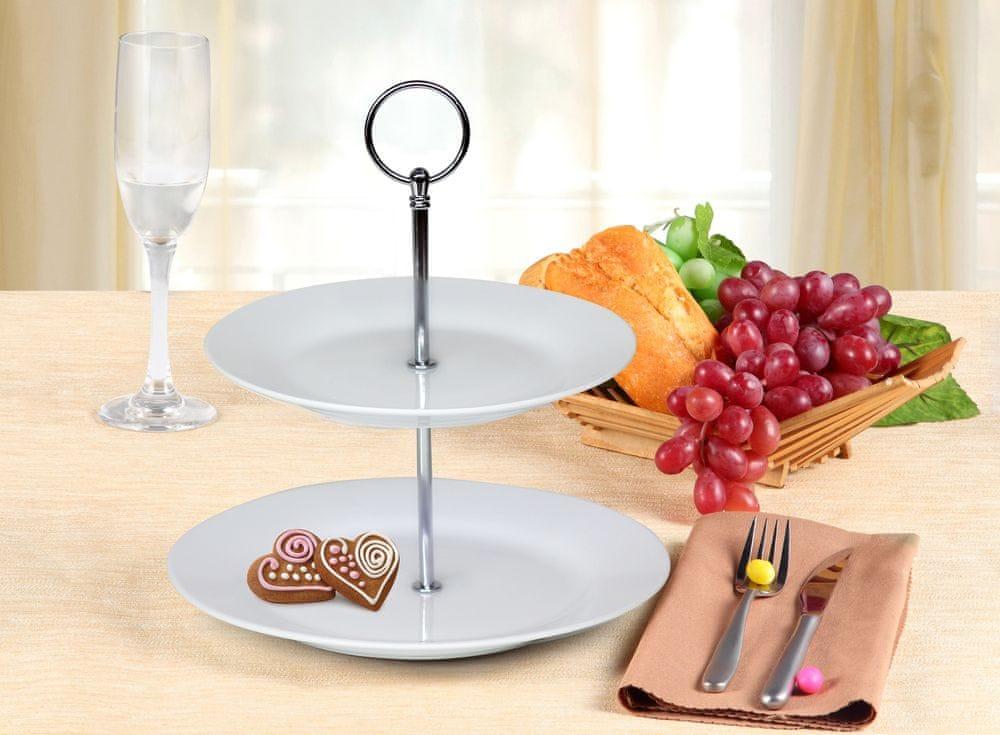Banquet Stojan na cukroví porcelánový SOFIA, 2patrový