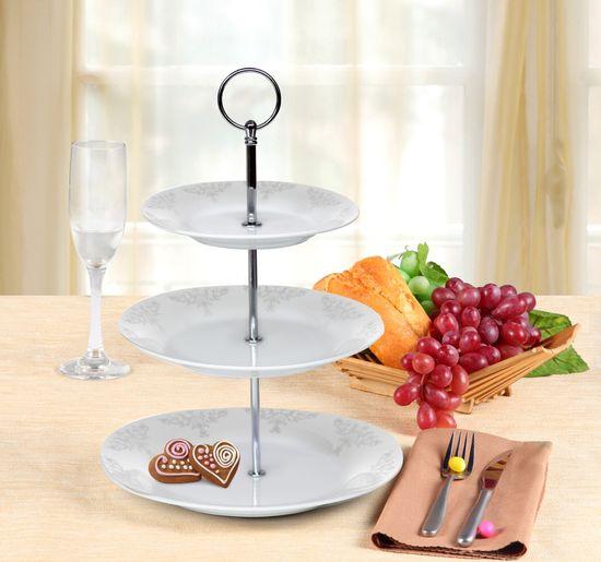 Banquet stojalo iz porcelana SOFIA, 3-nadstropno