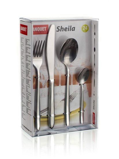 Banquet set pribora za jelo od nehrđajućeg čelika SHEILA, 24 komada
