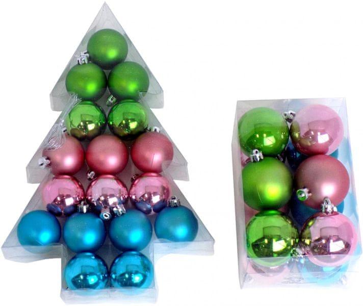 Seizis Vánoční koule 17x 5 cm + 12x 6 cm