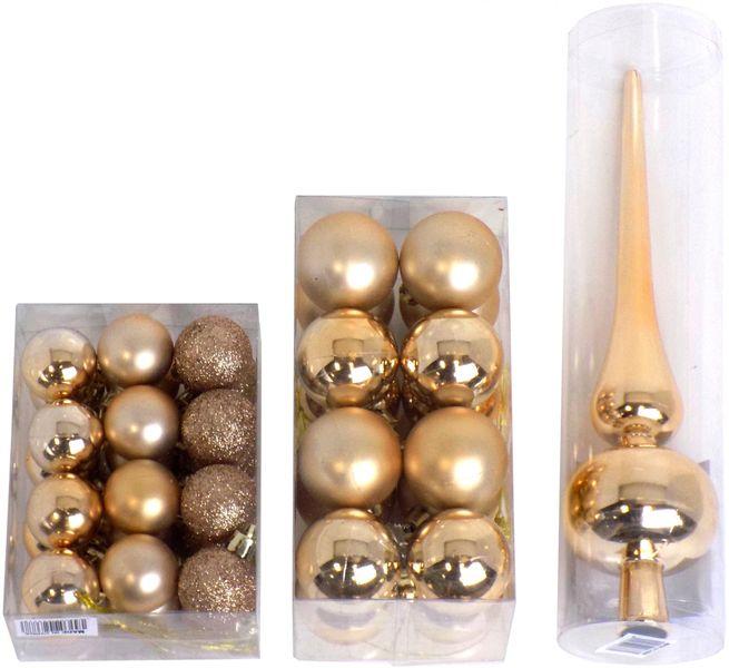 Seizis Vánoční koule 24x 3 cm + 16x 4 cm + špička