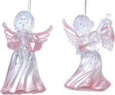 Seizis Anděl 11,5 cm růžová perleť, 2 ks