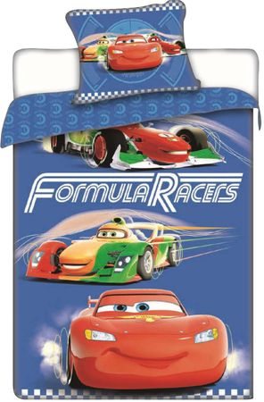 Jerry Fabrics obliečky Cars Races 140x200 70x90