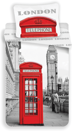 Jerry Fabrics pościel London Telephone 140x200/70x90