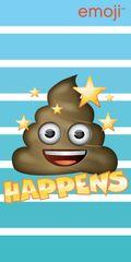 Jerry Fabrics ręcznik kąpielowy Emoji Happens, 70x140 cm