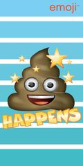 Jerry Fabrics Osuška Emoji Happens 70x140 cm