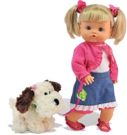 Alltoys Bábika Bambolina Nena so psíkom