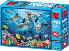 Lamps 3D Puzzle Dolphin 63 dielikov