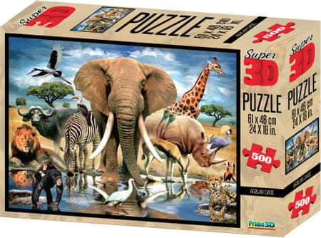 Lamps 3D Puzzle Africa 500 dielikov