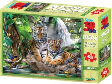 Lamps 3D Puzzle Tigr 63 dílků