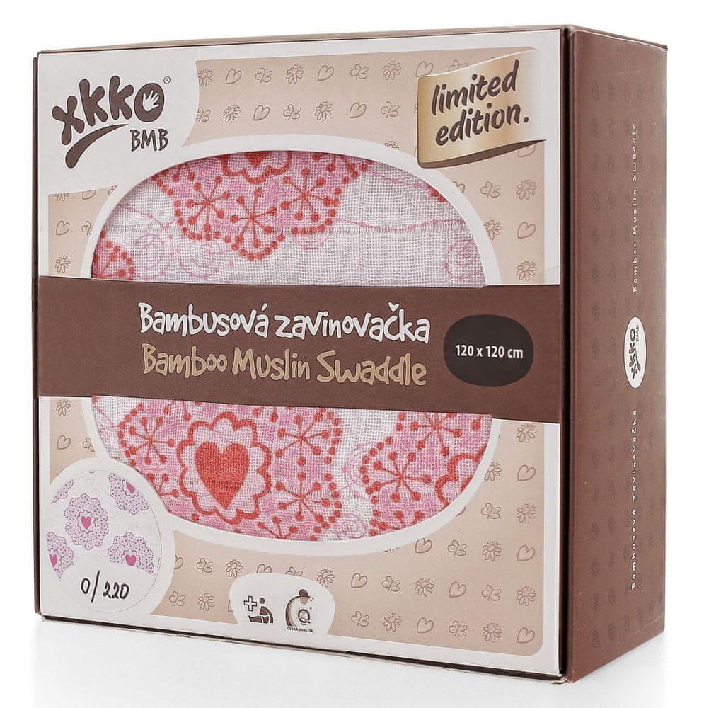 XKKO Bambusová zavinovačka Limited Edition 120x120 cm červená
