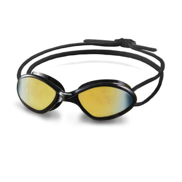Head Brýle plavecké TIGER MID RACE zrcadlové, černá