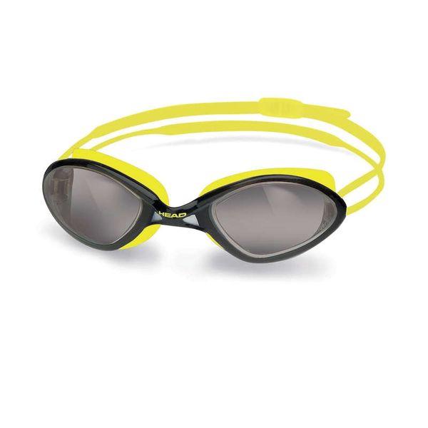 Head Brýle plavecké TIGER RACE LIQUIDSKIN, kouřová/žlutá