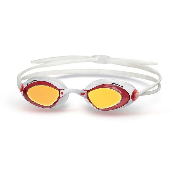Head Brýle plavecké STEALTH zrcadlové, červená-bílá