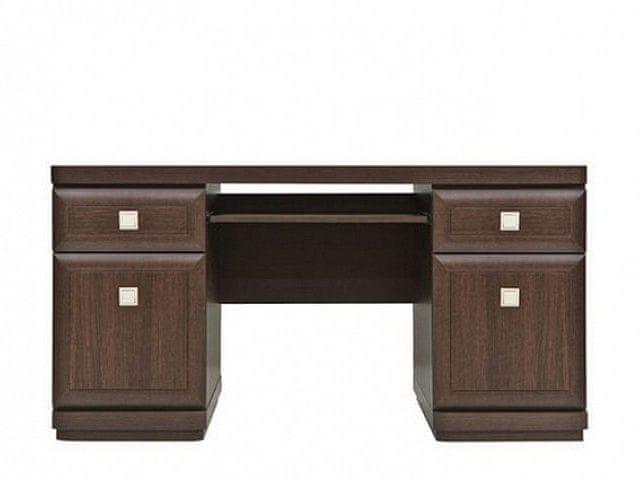 PC stůl se zásuvkami a skříňkami OREGON, BIU2D2S, dub canterbury