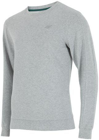 4F męska bluza H4Z17 BLM001 jasny szary melanż S