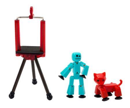 EP Line StikBot sada - modrá figurka + červená kočka