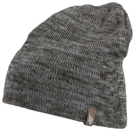 4F Damska czapka H4Z17 CAD003 Brązowy melanż S/M