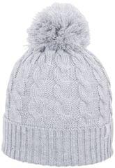 4F Damska czapka H4Z17 CAD013 jasny szary melanż