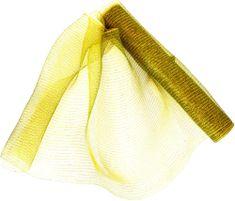 Seizis Dekorační síťka 54 x 914 cm, zeleno-zlatá
