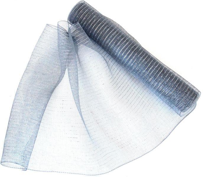 Seizis Dekorační síťka 54x914 cm, šedo-stříbrná
