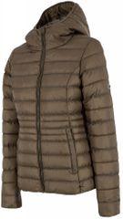 4F ženska zimska jakna H4Z17 KUD003, olivno zelena