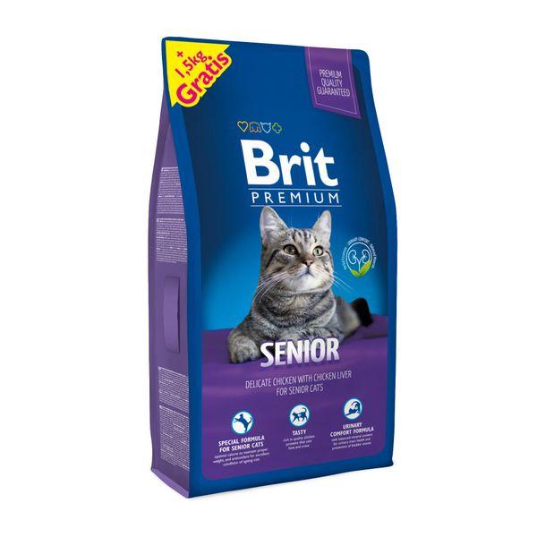 Brit Premium Cat Senior 8 + 1,5 kg Zdarma